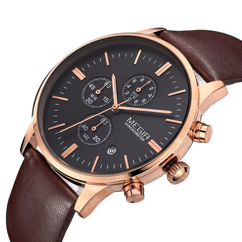 s watches megir brand 100 genuine leather