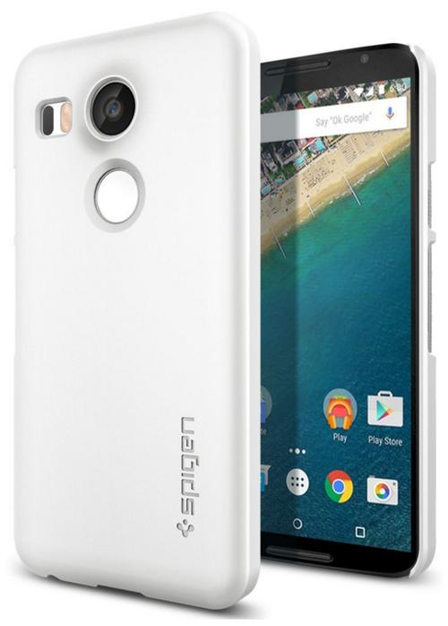 still have spigen thin fit nexus 5x shell case shimmery white 2 buying from App