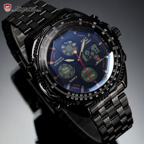 s watches high quality shark band sports
