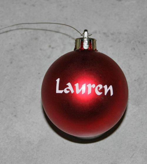 Novelty Personalized Christmas Baubles One Name Per