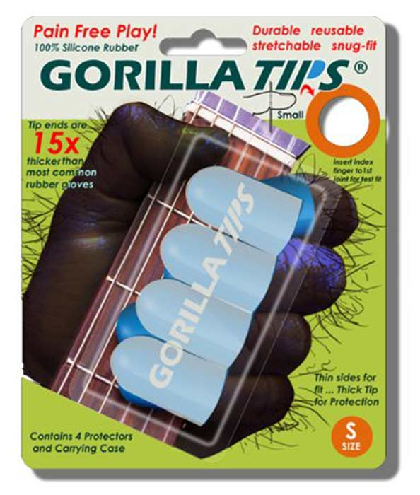 sore fingers gorilla tips ultimate finger protector for guitar players of all levels play longer. Black Bedroom Furniture Sets. Home Design Ideas