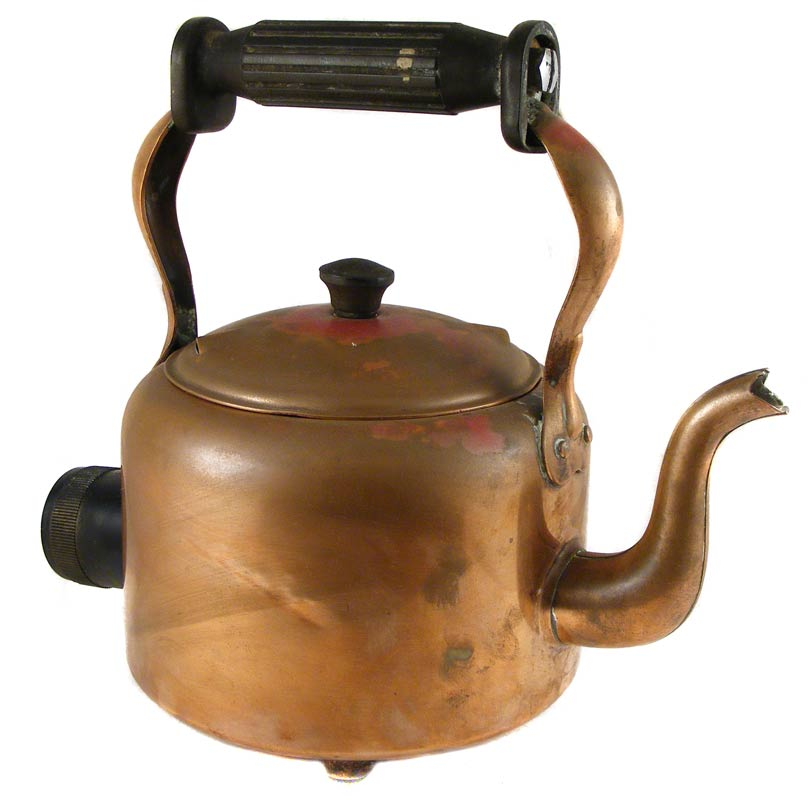 Electric Kettle Product ~ Antique bulpitt sons copper electric kettle swan brand