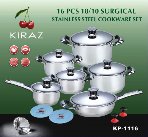 Kitchen Pc Stainless Steel Cook Set In Walmart