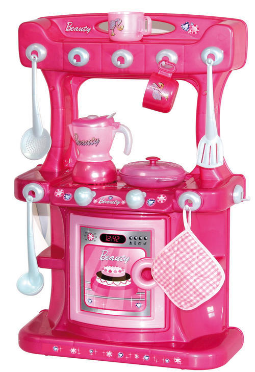 Kitchen Housework Pink Free Standing Kitchen Playset Great Gift To Any Little Girl Was