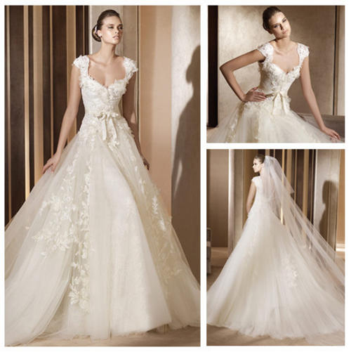 Ball Gown Wedding Dresses In Johannesburg : Wedding dresses ivory lace and tulle sweetheart ball