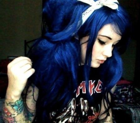 hair colourants dyes midnight blue skullour hair dye