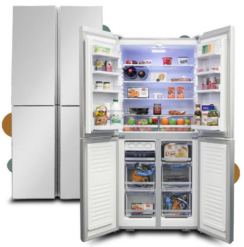 Fridge Freezers Kelvinator Ki520ss 4d Glass Front