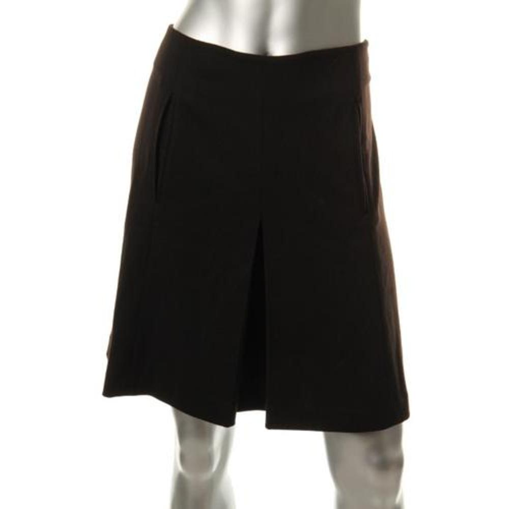 skirts nine west new black ponte pleated knee length a