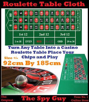 Unusual items roulette table cloth measure 92cm by 185cm - Table a roulette ...