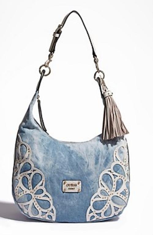 Guess Denim Handbag. GUESS Varsity Pop Shopper Denim.